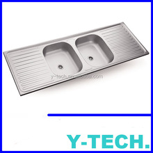 Double bowl stainless steel sink YK1554B