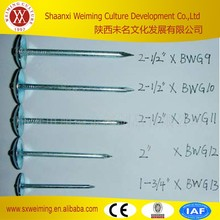 BWG9*2.5'' Bright Metal Luster Zinc Roofing Nails