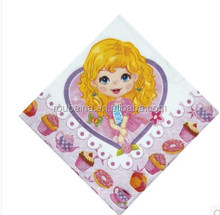fancy princess paper napkin for birthday party