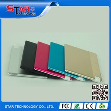 Hot selling new product 2015 portable slim power bank credit card size micro usb battery charger for android and ios