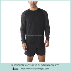 poly with spandex stretch fabric Long sleeves t shirt