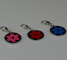 Pet dogs cats and metal tags Rubber skin splicing stainless steel multi-color optional listed 00D
