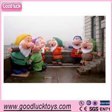 Inflatable dwarfs Cartoon with inner blower