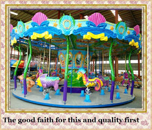 More than 10 years experience in ocean conch design theme park carousel for sale