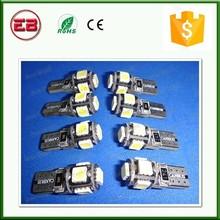 T10 5050 Wedge 5 Watt Canbus 194 5SMD 5 LED , T10 car led light bulbs