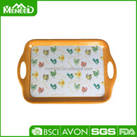 Food grade material melamine 100% school dry fruit plastic tray