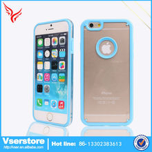 china supplier circle tpu mobile phone case for iPhone 6 pc back cover mobile cases wholesale