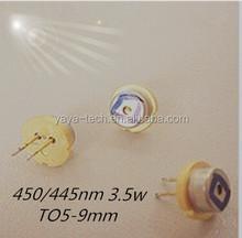 Nichia high power laser 445nm 3.5w 9mm blue laser diode