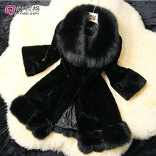 Women New Design Rabbit Fur Coat Long Rabbit Fur Jacket