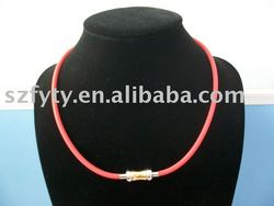 fashion silicone magnetic necklace with magnet clasp