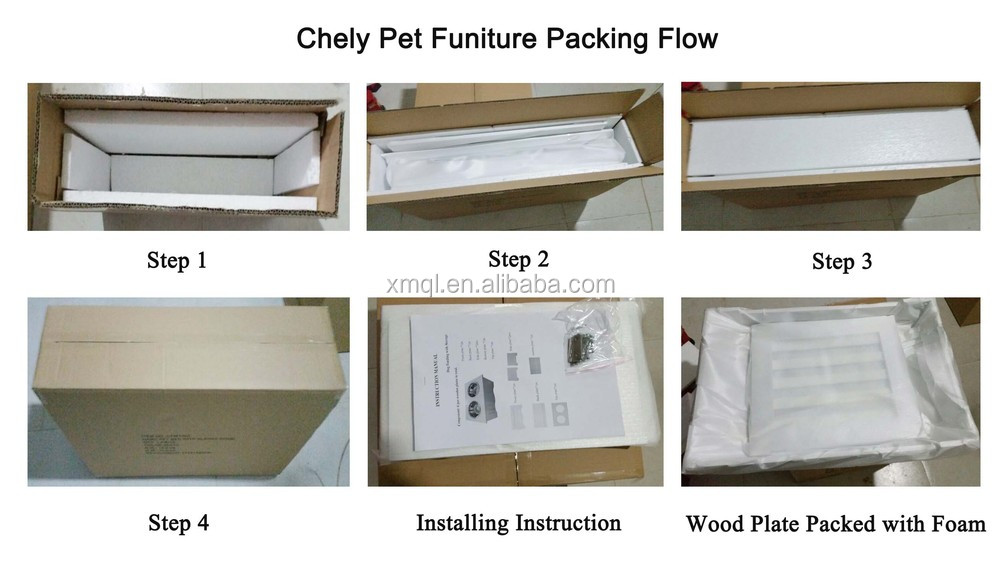 Bunk Wooden Pet Bed for Cats and Small Dogs with Steps and Free Pad