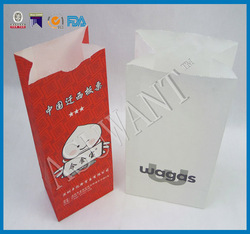 disposable take away lunch craft paper packaging bag