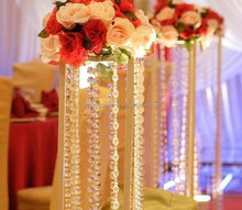 14mmOctagon beads string strands glass crystal curtain for indoor decoration