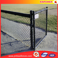 high quality hot dip galvanised or black powder coated chain link fence