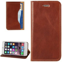 Genuine Cow Flip Leather Case for iPhone 6 with Holder & Card Slot