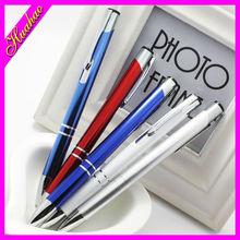 Factory price Click action pen promotional logo pen cheap metal pen with customized logo