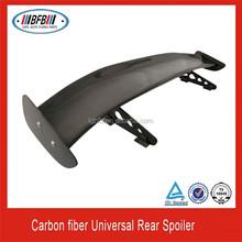 "UNIVERSAL 57"" 3D CARBON FIBER CF REAR GT TRUNK SPOILER WING ADJUSTABLE DECK"