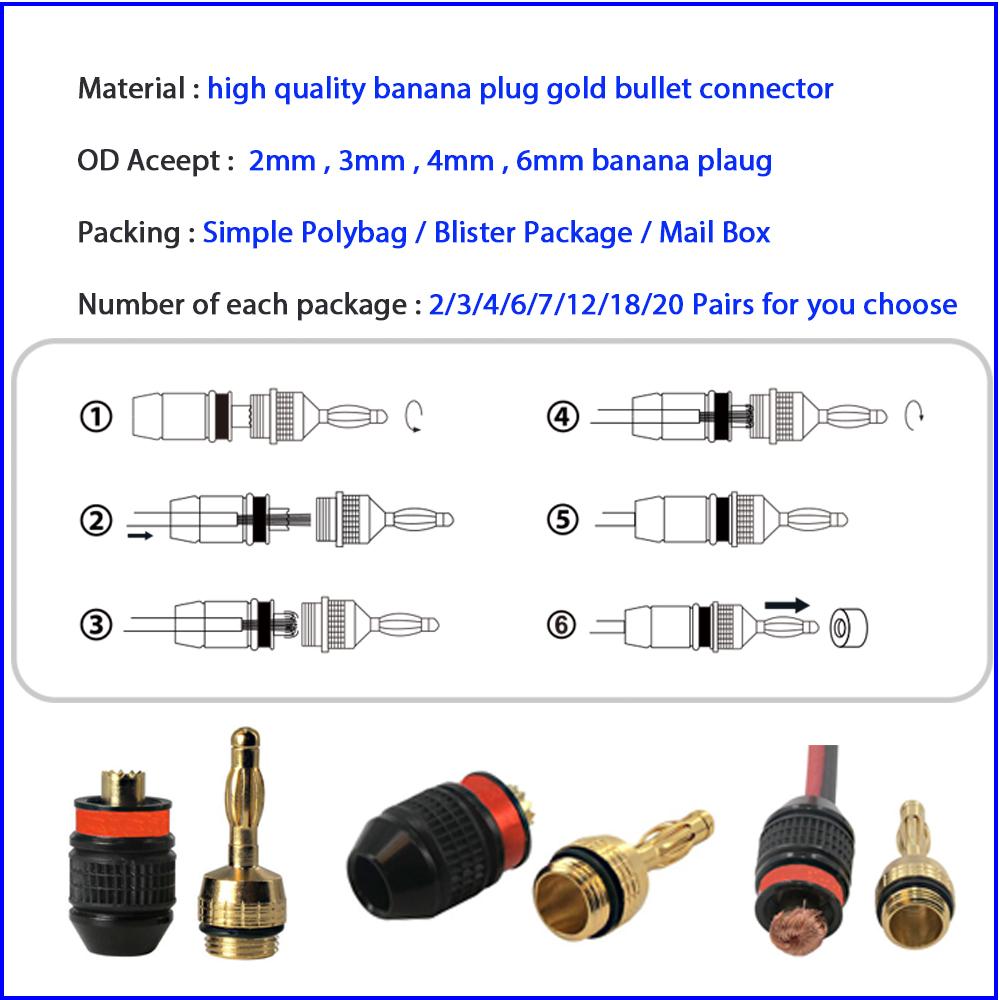 2 мм 3.5 мм 4 мм банан штекер, открыть винт тип, Nakamichi аудио банана спикер зажигания