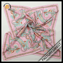Factory direct custom digital print silk scarf and shawl wholesale in high quality