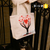 Customized top quality recyclable shopping girl cotton bags fashion