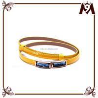 Made in China supplier fancy jewelry ladies fashion belt with pocket