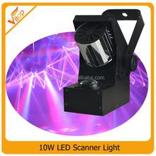Super brightness 10w RGBW led scanner light/ rotation barrels scan light