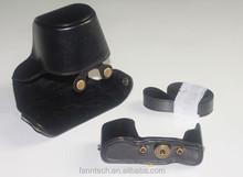 Leather Case Bag Cover For Olympus OM-D OMD E-M10 EM10 Camera BLACK