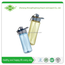 22oz Tritan material bpa free water plastic bottle with straw carring cap