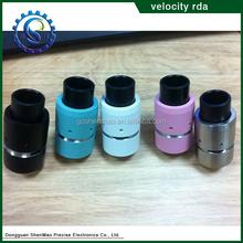 2015 crazy selling peek insulator velocity atomizer rda SS/Black/White/Tiffany blue velocity rda popular in market