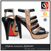 On Sale and Top Quality! 2015 women black high heel sandals