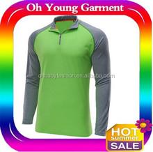 Raglan sleeve long Custom mens 100% polyester gym tshirt running man tshirt Climbing Gym Clothes