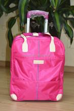 fashion extra large pocket nylon trolley luggage