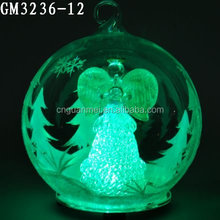 light up glass angel bauble for chritmas decoration