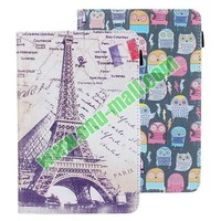 Cute Cartoon Owl Pattern Stand Flip Leather Case for Lenovo A3000