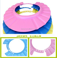 50pcs Lovely Soft Shampoo Bath Shower Cap for Child Kid , Baby Wash Hair Shield Hat ,Yellow / Pink / Blue DHL Freeshipping