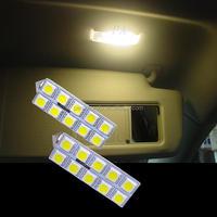 For Volkswagen Golf 12V 10 SMD 5050 Festoon LED Lights Auto Car Mirror Vanity Dome Interior Lamp Bulbs