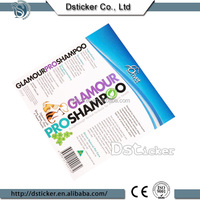 Waterproof adhesive artwork printed clear shampoo label