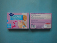 scented/fragranced disposable HDPE virgin/recycle material nappy bag with printed inner box