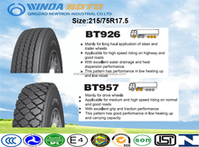 Radial truck tyre TBR tyre tubeless type 215/75R17.5 BOTO brand best Chinese tyre manufacturer