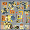 despicable me printed cotton fabric