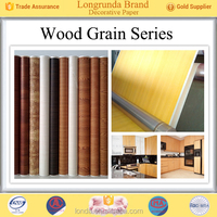 Cool design Perfect Quality Colorful Wood grain elegant printed decor paper for furniture with competitive price