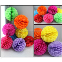 Wedding Baby Shower Decoration 4-16 inch colorful Tissue Paper Honeycomb ball paper Lanterns for Greece