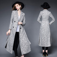 Latest design of long overcoat for women elegant women overcoat fashion street women wool coat