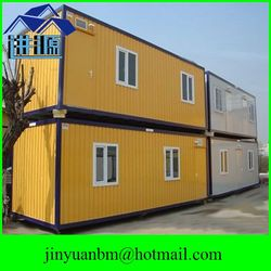 well-designed and steel frame prefabricated combined container house