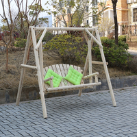 outdoor wooden chair hanging garden swing