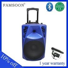 Hot Sale Dual 8'' inch Bluetooth trolley speaker Active portable bluetooth bluetooth speakers with mic