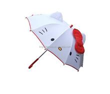 hello kitty 3 fold telescopic umbrella with transparent hook handle