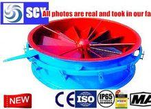 industrial fan blower with noise suppressor