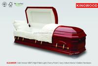 ELEANOR funeral supplies caskets black velvet