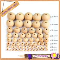 Jieyi OEM wenge wooden jewelry bead 12mm 15mm 18mm beech wood bead